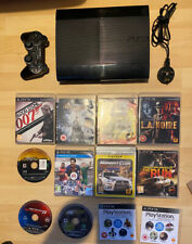 Sony Playstation 3 PS3 Super Slim 500GB Black Console, 10 Games + More