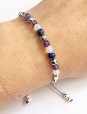 Just Gemstones Insomnia Healing Balance Bracelet - Adjustable