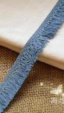 Blue 20mm Delicate Trim Tassel Fringe DIY Cotton Lace Sewing Price per 30cm
