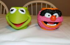 Vintage Muppets Animal and Kermit Frog Mug Plastic Applause Cup 3-D Face 1994