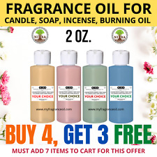 2 oz. Fragrance Scented Oil For Diy Soap Burning Bath Bomb Candle Incense making