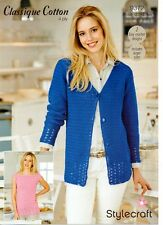 Stylecraft  9372- Ladies 4ply CROCHET PATTERN -2 Designs-not the finished items
