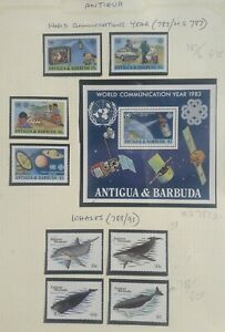 ANTIGUA REALLY PRETTY COLLECTION MNH AND MM. MINISHEETS TO $5. GREAT THEMATICS.