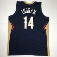 New BRANDON INGRAM New Orleans Blue Custom Stitched Basketball Jersey Men's XL