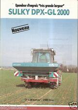 Farm Equipment Brochure - Sulky - DPX-GL 2000 - Epandeur d'engrais 1992 (F1520)