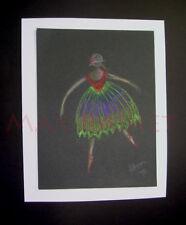 Listed Artist = C PETERSON = ORIGINAL DRAWING ILLUSTRATION = Ballet Dancer NYMPH