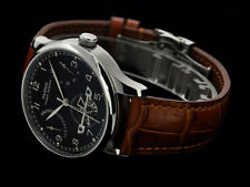 Parnis Luxury Black Power Reserve Chronometer 43mm men deployant date watch 1211