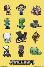 JINX MOJANG MINECRAFT CHARACTERS COMPUTER VIDEO GAME POSTER 22x34 FREE SHIPPING