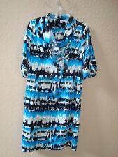 Sharon Young NWT Womens Blue Multi Print Dress 4