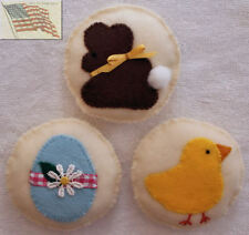 felt food play toys COOKIES EASTER 1 BUNNY 1 CHICK 1 EGG A children kid pretend