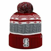 Stanford Cardinal Beanie Cuffed Winter Knit Hat Cap Toque With Pom Licensed NWT