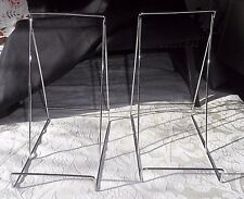 2 MEDIUM BOOK / PICTURE / PLATE STANDS - CHROME - TOP QUALITY