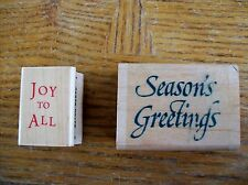 Christmas Greetings Rubber Stamp