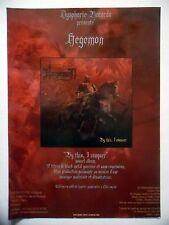 """PUBLICITE-ADVERTISING :  HEGEMON  2002 pour la sortie de """"By This, I Conquer"""""""