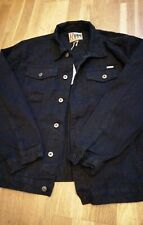 MENS JEAN JACKET DUKE JEANS CRAFTED DENIM SIZE S/55CM NEW TAGGED BLACK