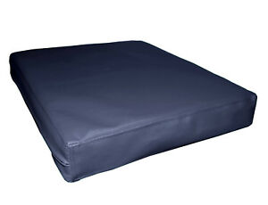 pa804t Dark Navy Blue Outdoor PVC 3D Box Seat Cushion Cover*Custom Size