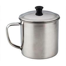 Oficina Plata acero inoxidable 300 ml taza de agua con tapa V3M8