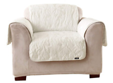 Sure Fit Matelasse Damask - Chair Slipcover - WHITE