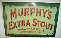 tabella latta birreria 60 x 39 MURPHY'S EXTRA STOUT anni '60 originale