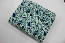 Flowers & Garden 5 yards Hand Block Print Cotton Fabric Flower Printed BVG14