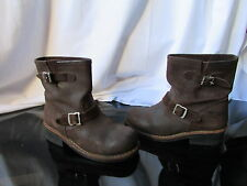 boots/bottines go west cuir gras marron 38