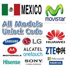 Movistar Mexico Unlock Code Samsung LG Sony Huawei Nokia Microsoft Motorola etc
