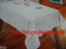 150x260 cm RECHTECKIG Tischdecke Vinyl TISCHDECKE SCHUTZDECKE Blumenmuster NEU