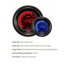 Genuine Prosport Evo 52mm Red Blue Gauge DC voltage 8v-18v