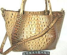 Brahmin Small Mallory Toasted Melbourne Embossed Leather Satchel Bag NWT $345