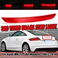 RED Dynamic Flowing High Mount LED 3rd Brake Light Lamp For Audi MK2 TT 2007-14