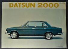 1967 Datsun 2000 Sales Brochure Folder Deluxe Six 6 Original 67