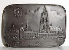 Ältere Relief gr. Kunstguss Eisenguss Plakette Buderus Frankfurt Stadtansicht
