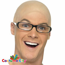 Adults Fake Bald Head Skinhead Latex Cap Fancy Dress Costume Accessory