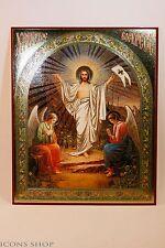 christ is risen christianity icon 15x18cm христос воскресе