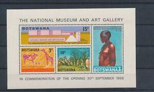 LO15640 Botswana national museum & art gallery good sheet MNH