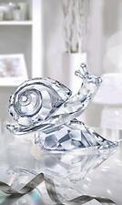 Swarovski Crystal escargot sur feuille 5135940 Comme neuf boxed RETRAITÉ RARE
