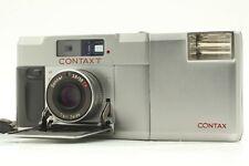 EX +5 Telemetro Contax T Argento 35mm Film Camera con T14 Flash DAL GIAPPONE #725