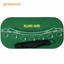 Texas Holdem Suede Rubber Blackjack Table Cloth Poker Waterproof Board Games Mat