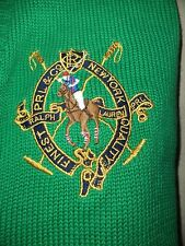RALPH LAUREN SWEATER POLO SPORT CREST PULLOVER VINTAGE STYLE XL BIG PONY V-NECK