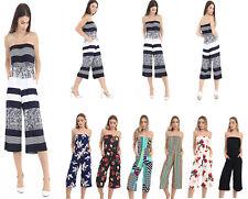 Womens Two Pockets Romper Baggy Harem Jumpsuit Ladies Play Suit Dress UK (8-26)