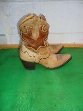 Yippee Ki Yay Old Gringo Beige Leather Western Mid Calf Cowboy Zip Boot Sz 7.5 B