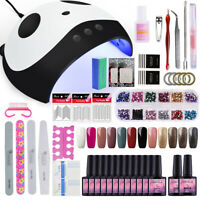 Starter Gel Nail Polish Kit 36W UV LED Lamp Manicure Tools Set 12 Colors