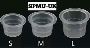 SPMU Ink Cups Pots Microblading - Tattoo Pigment Holder, Plastic Pigment Pot