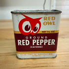 Vintage 1948 Red Owl MN Spice Tin Ground Red Cayenne Pepper 1.5 oz Tin Can Full
