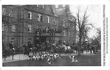 POSTCARD  SOCIAL  HISTORY   DROITWICH   Brine  Baths  Hotel  Worcs  Hounds