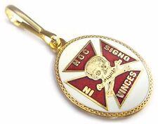 Knights Templar Crusaders Skull Crossbones Masonic Freemason Coat ZIPPER PULL