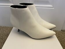 Brand New White Leather Look Newlook Ankle Boots Size 4 /37