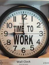 """Time To Work"" Clock Garage Barn Locker Office Cafeteria"