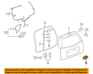 Cadillac GM OEM 07-08 SRX Liftgate Tailgate Hatch-Handle 15898422