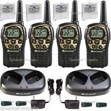 Midland Walkie Talkie Two Way Radio 4 Pack Camo 24 Mile Hunting LXT535VP3 x2